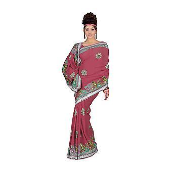 Usura del partito di firas Designer Georgette Sari Saree