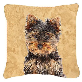 Yorkie Puppy / Yorkshire Terrier   Canvas Fabric Decorative Pillow