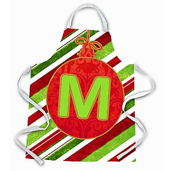 Christmas Oranment Holiday Initial Letter M Apron