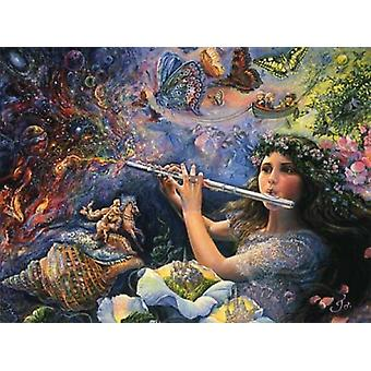 Enchanted Flute Poster Print by Josephine Wall (36 x 24)