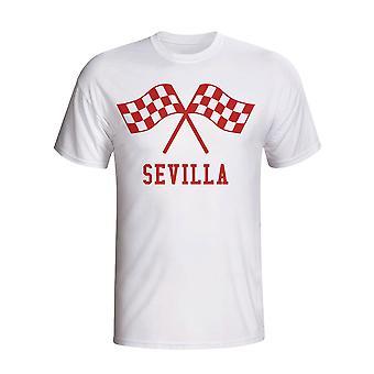 Sevilla Waving Flags T-shirt (wit)