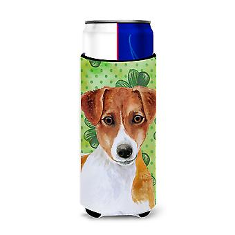 Jack Russell Terrier St Patrick's Michelob Ultra Hugger for slim cans