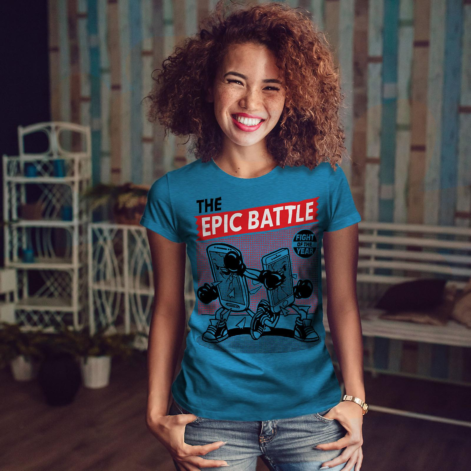 Téléphone épique bataille Geek Royal BlueT-chemise femme | Wellcoda