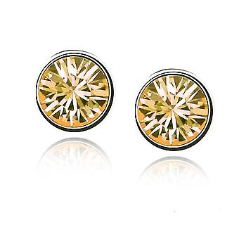 Womens Small Crystal Stud Earrings Jewellery Gold