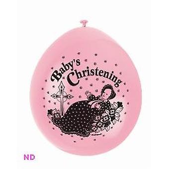"""'BABY doop' 9"""" Latex ballonnen roze (10)"""