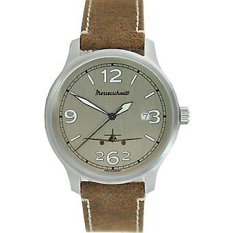Aristo gentlemen Messerschmitt Fliegeruhr ME42-ALU-L leather watch