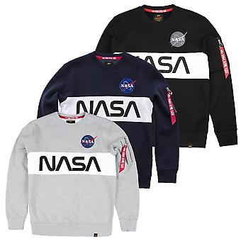 Alpha Industries Men's Sweatshirt NASA Inlay