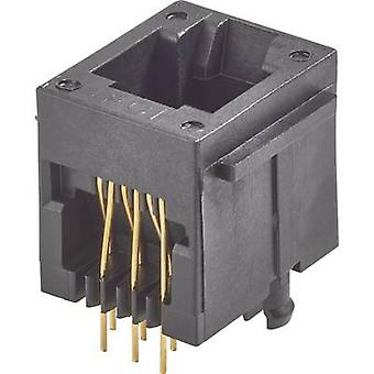 RJ12-mounted socket Socket, vertical vertical Number of pins: 6P6C Modular jacks Black FCI 90512-001LF 1 pc(s)