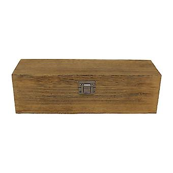 Single Bottle Oak Effect Wooden Box