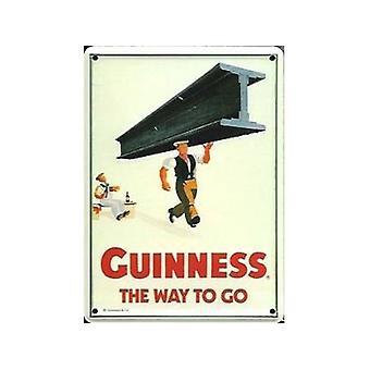 Guinness dźwigar pocztówka Metal / Mini Zarejestruj