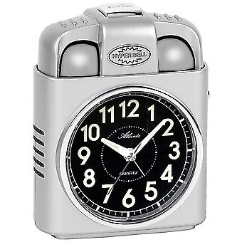 Atlanta 1947/19 alarm clock quartz silver with light snooze Bell signal