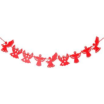 TRIXES Red Angel Bunting Festliche Weihnachtsdekoration 3,2 m