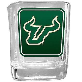 Florida de Sud Bulls NCAA logo shot de sticlă