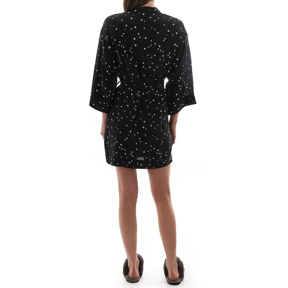UGG Womens Silk Kimono Style Dressing Gown With Stars