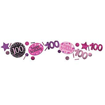 Amscan 1.2oz Pink 100th Birthday Sparkling Confetti