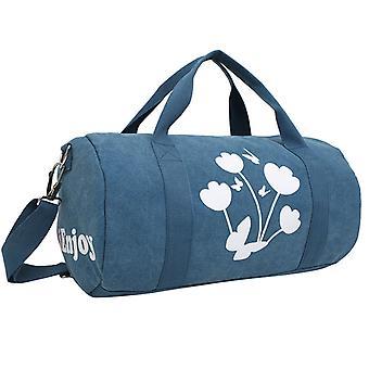 حقيبة عطلة نهاية الأسبوع أو حقيبة التدريب في قماش الكتان، 40x22x22 سم