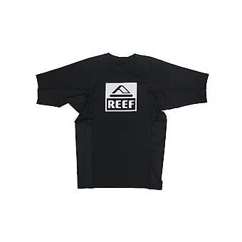 Reef Logo Rashguard II Short Sleeve Rash Vest en noir