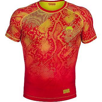 Venum Mens Fusion chemise à Compression manches courtes - Orange/jaune