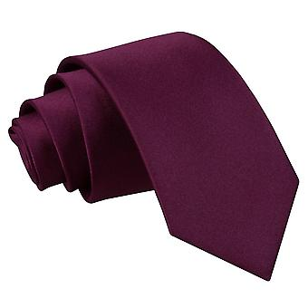 Plum platte satijnen slanke Tie