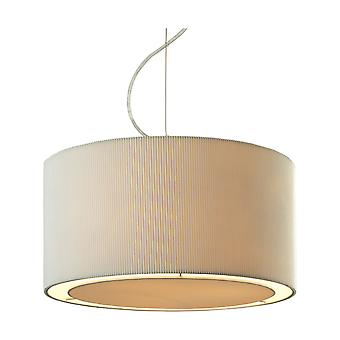 Firstlight-3 licht plafond hanger chroom, crème-8311CR