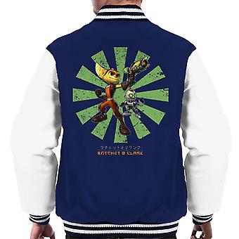 Ratchet And Clank Retro Japanese Men's Varsity Jacket
