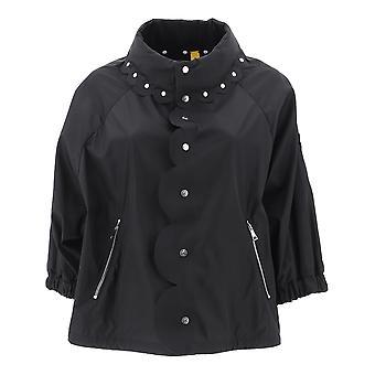 Moncler Genius 460000554155999 Women's Black Nylon Outerwear Jacket