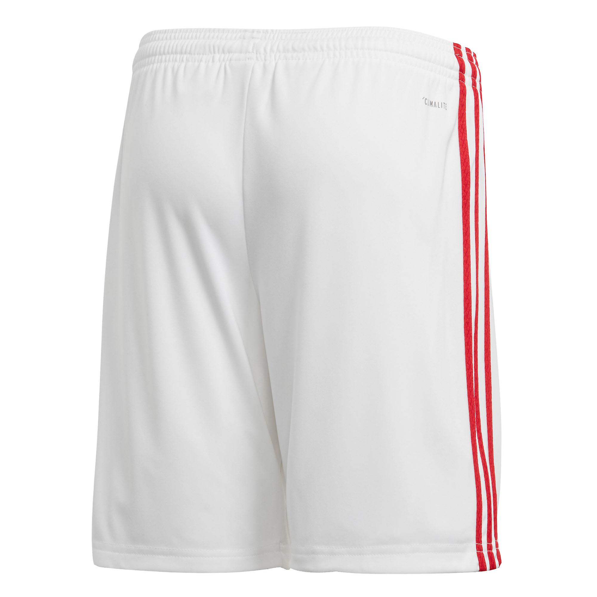 adidas Manchester United 2019/20 Kids Home Football Short White