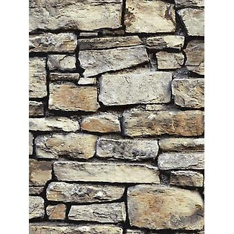 Cornish Stone wallpaper Brown Arthouse 668900