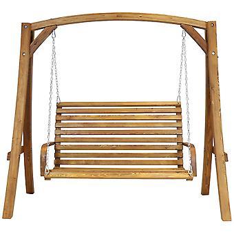 2-3 sæders lærk træ træ have udendørs swing sæde bænk hængekøje 1,9 M