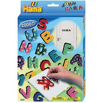 Hama ABC bokstäver pärla Set