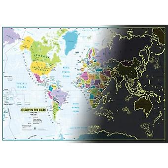 Lovell Johns Glow In The Dark Scratch The World Map