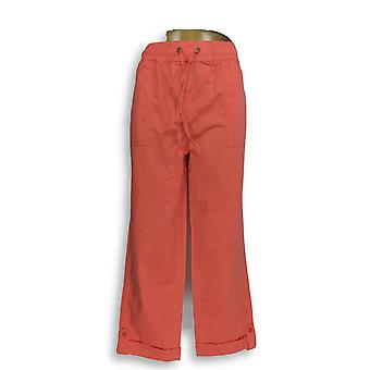 Liz Claiborne New York Women's Pants Cropped Pull-On Pink A252713