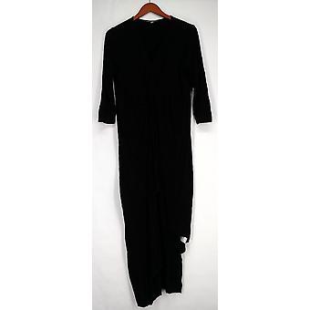 Kate & Mallory Dress 3/4 Sleeve V-Neck Dress w/ Twist Front Black A428763