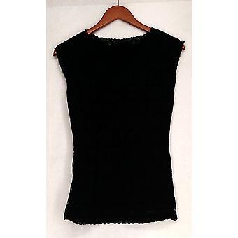 Schlanke 'N Lift Cap Sleeve V-Ausschnitt Floral Spitze schwarz Shaper C410387