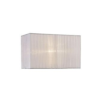 Diyas Florence Rectangle Organza Shade, 380x190x230mm, White, For Table Lamp
