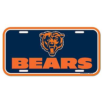 Wincraft NFL License Plate - Chicago Bears