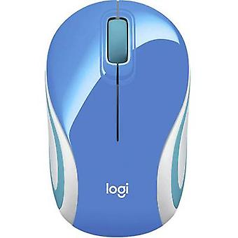 Logitech M187 Wireless mouse optisk blå