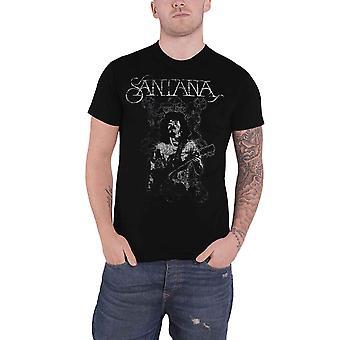Santana T Shirt Vintage Peace Band Logo new Official Mens Black