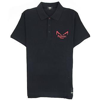 Fendi Bag bugs camisa pólo preto