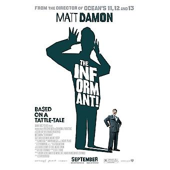 L'Informateur !  Double Sided Us One Sheet (2009) Original Cinema Poster