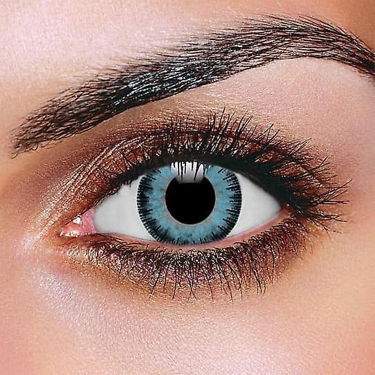 Fusion Blue & Gray Contact Lenses (Pair)