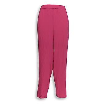 Linea by Louis Dell'Olio Women's Pants Pebble Crepe Pull-On Pink A351111
