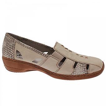 Rieker Women's High Front Moccasin Black Shoe