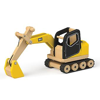 Tidlo Wooden Digger Construction Toy Vehicles Play