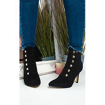 IKRUSH Womens Ella korset lace up hæle støvler