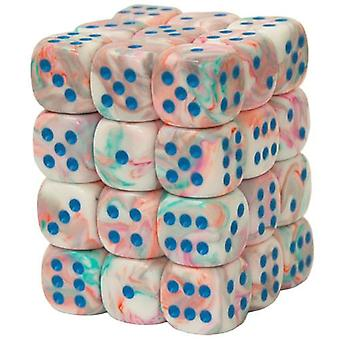 Chessex 12mm Dice Block Festive Pop-Art/Blue 36
