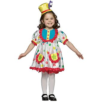 Clown Circus Birthday Party Funny Book Week Dress Up Girls Costume 4-6X