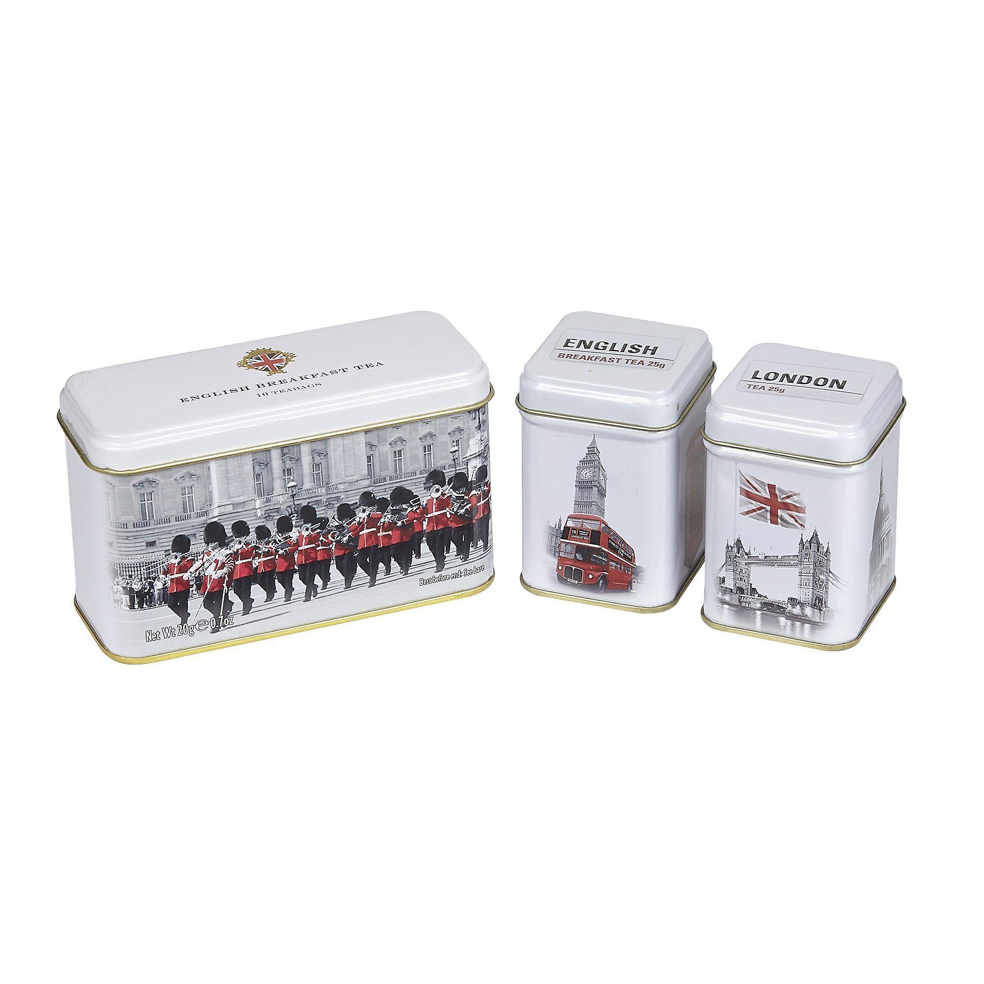 Traditions of england triple tea selection mini tin gift pack