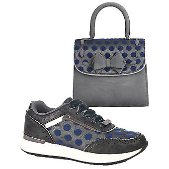 Ruby Shoo Mujeres's Darcy Trainers & Matching Baltimore Bag