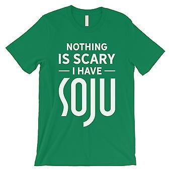 لا شيء مخيف سوجو مينس الأخضر الإبداعية مذهلة مدروس تي شيرت